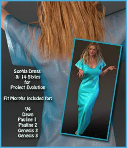 Sophia Dress and 14 Styles for PE, V4, Dawn, Pauline, G2 and G3