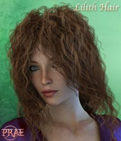 Prae-Lilith Hair For G3 G8 Daz