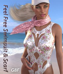 Feel Free Swimsuit & Scarf for G8F