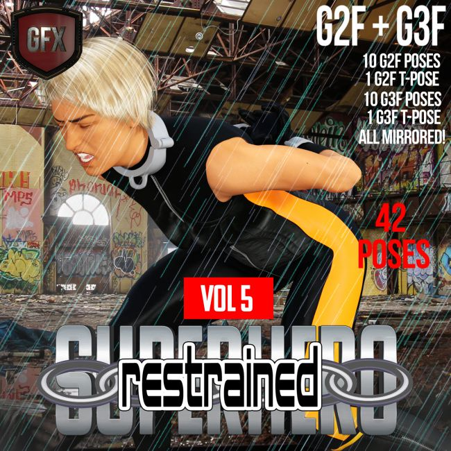 SuperHero Restrained for G2F and G3F Volume 5