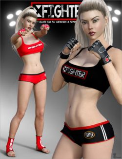 X Fighter Outfit Set for Genesis 8 Female(s)