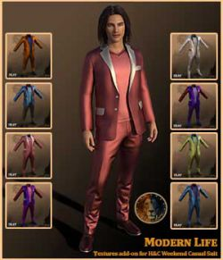 Modern Life for H&C Weekend Casual Suit for Genesis 8 Male