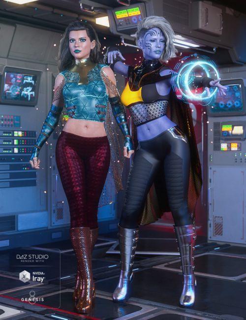 dForce Stargazer Outfit Textures