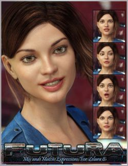 Futura Mix And Match Expressions For Zelara 8 And Genesis 8 Female(s)