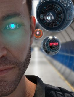 Cybernetic Eyes and Drones Textures