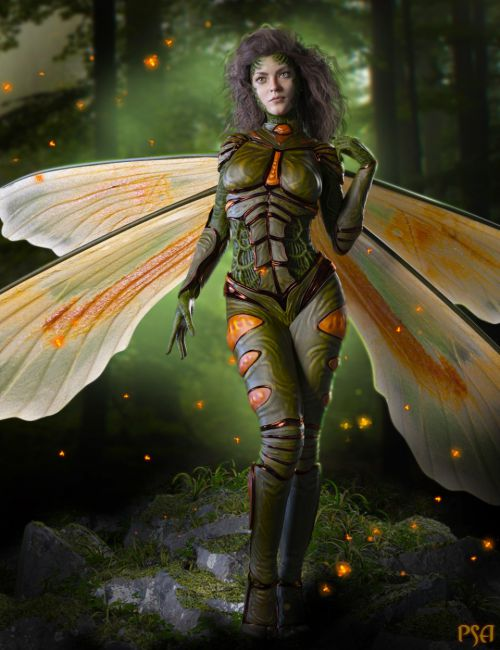 Pix Pyrida HD and FireFly Outfit for Genesis 8 Female(s)