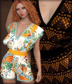 7th Ave: dForce- Butterfly Romper for G8F