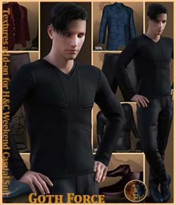 Goth Force for H&C Weekend Casual Suit for Genesis 8 Male