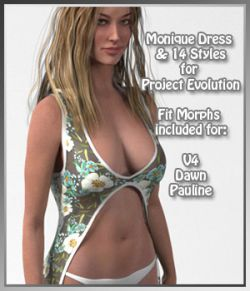Monique Dress and 14 Styles for PE, V4, Dawn and Pauline