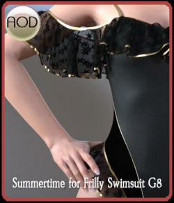 Summertime for Frilly Swimsuit G8