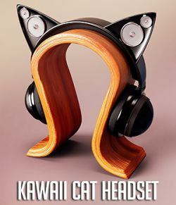 Kawaii Cat Headset for Genesis 3 and 8 Female(s)