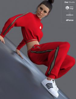 dForce Sporty Babe Outfit for Genesis 8 Female(s)
