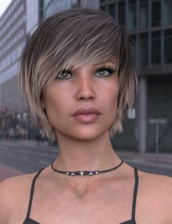 Exie Hair for Genesis 3 and 8 Female(s)