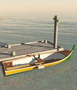Bay Boat And Pier For Vue