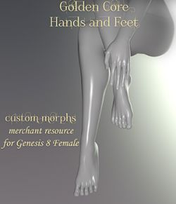 Golden Core Hands and Feet for Genesis 8 Female
