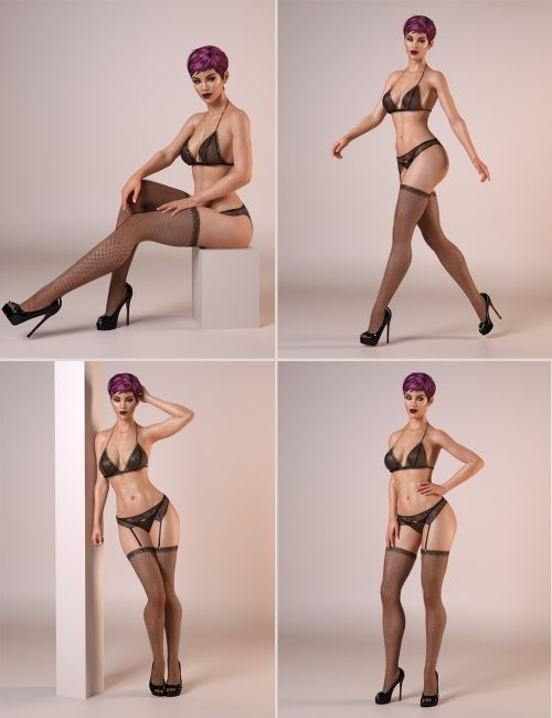 Daz Natural Woman Poses For Genevieve Genesis Booloo 1