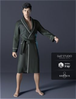 dForce H&C Bathrobe for Genesis 8 Male(s)