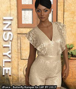 InStyle- dForce- Butterfly Romper for G8F