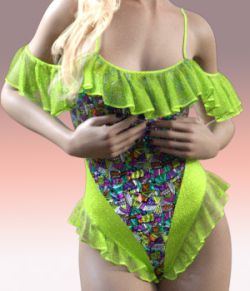 Charm Frilly Swimsuit