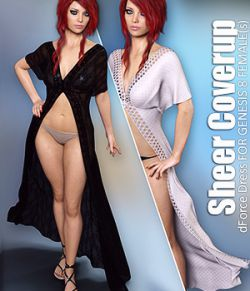 dForce Sheer Coverup for Genesis 8 Females