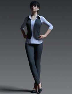 dForce Working Girl Outfit for Genesis 8 Female(s)