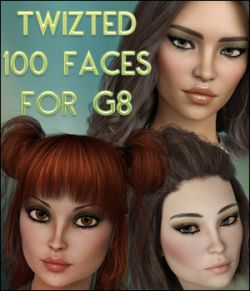 Twizted 100 Faces for Genesis 8 Female