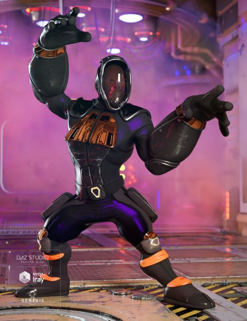 Sci-fi Ninja Outfit for Genesis 8 Male(s)