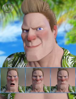 Cartoon Guy- Expressions for Genesis 8 Male and Toon Dwayne 8