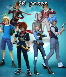 Fantasy Anime Poses VIII