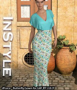 InStyle- dForce- Butterfly Gown for G8F
