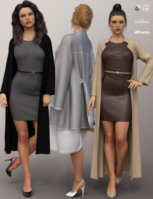 dForce Fashion Sophisticate Outfit for Genesis 8 Female(s)
