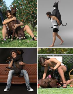Fun Poses for Daz Dog 8 and Victoria 8 and Michael 8