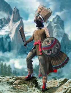 dForce Aztec Eagle Warrior Outfit for Genesis 8 Male(s)