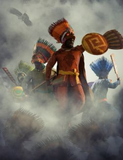 dForce Aztec Eagle Warrior Outfit Textures