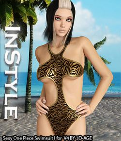 InStyle- Sexy One Piece Swimsuit I for V4A4G4S4Elite and Poser