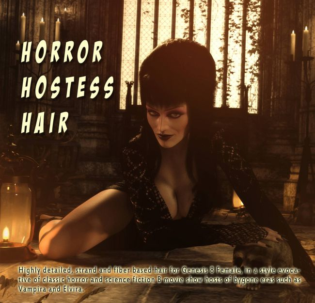 Horror Hostess Hair