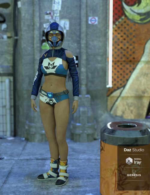 Cyberpunk 2047 Outfit for Genesis 8 Female(s)