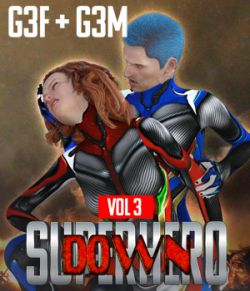 SuperHero Down for G3F and G3M Volume 3