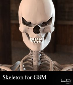 Skeleton for Genesis 8 Male