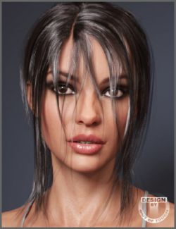 Leony Wet and Dry Ponytail Hair for Genesis 3 and 8 Female(s)