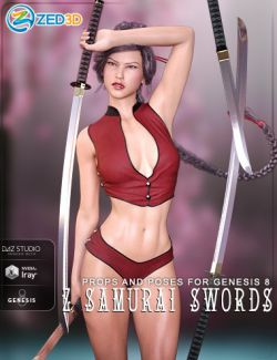 Z Samurai Swords- Props and Poses for Genesis 8