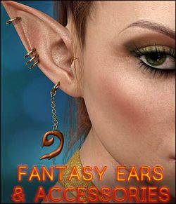 Twizted Fantasy Ears & Accessories for Genesis 8 Female
