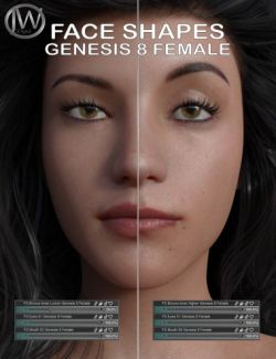 Face Shapes for Genesis 8 Female