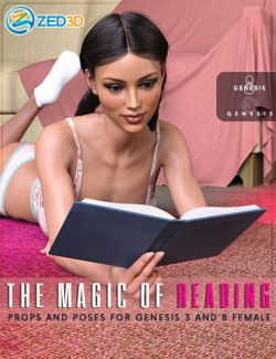 Z The Magic of Reading - Prop and Poses for Genesis 3 and 8 Female