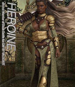 HEROINE- dForce Warrior of Dusk Outfit for Genesis 8 Females