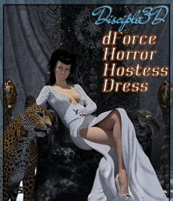 dForce Horror Hostess Dress for G8F
