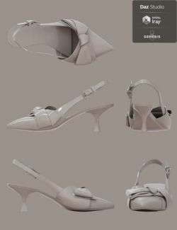 Jiwoo Sling Back Heels for Genesis 8 Female(s)