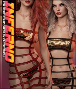 Inferno Strip Strap Dress G8F