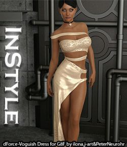 InStyle- dForce-Voguish Dress for Genesis 8 Female