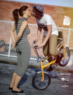 Love on 2 Wheels Poses for Genesis 8